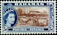 Bahamas 1954 Queen Elisabeth II and Landscapes Issue f