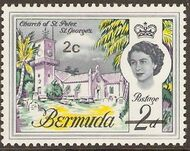 Bermuda 1970 Definitive Issue of 1962 Surcharged b