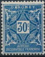 Dahomey 1914 Numerals e