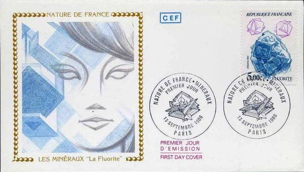 France 1986 Minerals FDCp