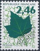 France 1994 Leaves - Precanceled b