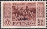 Italy (Aegean Islands)-Lipso 1932 50th Anniversary of the Death of Giuseppe Garibaldi b