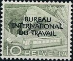 Switzerland 1950 Landscapes and Technology Official Stamps for The International Labor Bureau b