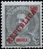 Angola 1911 D. Carlos I Overprinted n