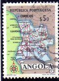 Angola 1955 Map of Angola c
