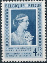 Belgium 1951 Queen Elisabeth Medical Foundation d