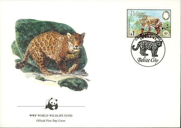 Belize 1983 WWF - Jaguar FDCd