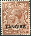 British Offices in Tangier 1927 King George V Overprinted (hatched background) c
