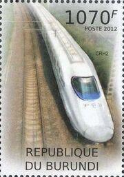 Burundi 2012 Speed Trains of China f