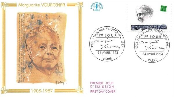 France 1993 Writers FDCf