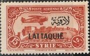 Latakia 1931 Air Post Stamps of Syria 1931 Overprinted g