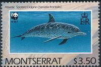 Montserrat 1990 WWF Dolphins d