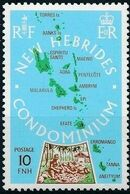 New Hebrides Condominium-British 1978 Map of New Hebrides a