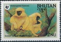 Bhutan 1984 WWF - Golden Langur c