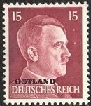 German Occupation-Russia Ostland 1941 Stamps of German Reich Overprinted in Black i