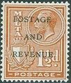 Malta 1928 George V and Coat of Arms Ovpt POSTAGE AND REVENUE e.jpg