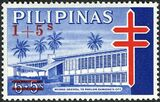 Philippines 1965 Philippine Tuberculosis Society - Negros Oriental TB Pavilion Stamps of 1964 Surcharged a