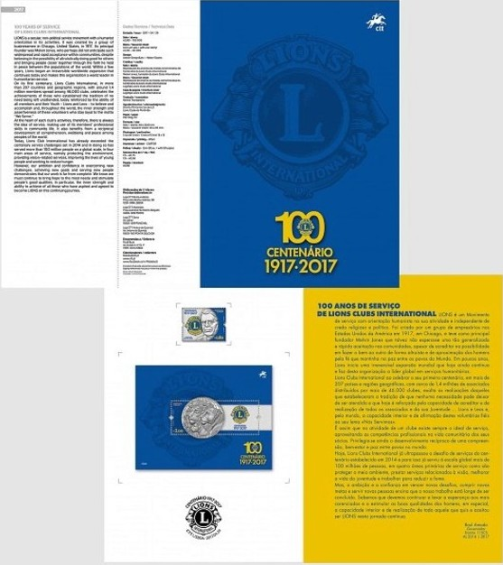 Portugal 2017 100 Years of Service of Lions Clubs International FOLa