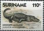 Surinam 1988 Alligators and Crocodiles d