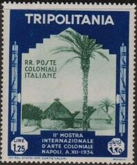 Tripolitania 1934 2nd Colonial Arts Exhibition in Naples f