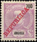 Angola 1911 D. Carlos I Overprinted o