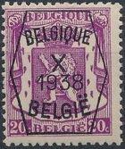Belgium 1938 Coat of Arms - Precancel (10th Group) b