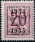 Belgium 1954 Heraldic Lion with Precancellations c