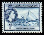 British Virgin Islands 1956 Queen Elizabeth II and Views b