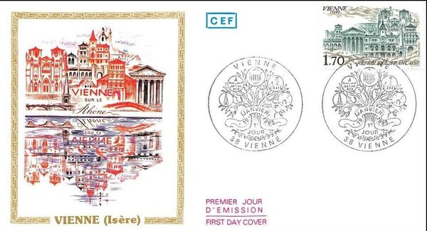 France 1985 Tourism Issue (1st 1985) FDCa