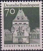 Germany, Federal Republic 1967 Building Structures from Twelve Centuries (2nd Group) g
