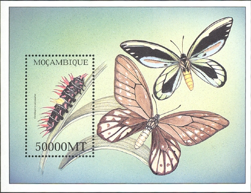 Mozambique 2002 Butterflies SSb