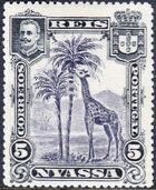 Nyassa Company 1901 D. Carlos I (Giraffe and Camels) b