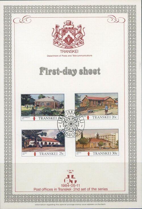 Transkei 1984 Post Offices FDSa