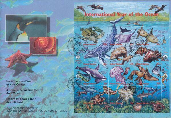 United Nations-New York 1998 International Year of the Ocean p