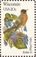United States of America 1982 State birds and flowers zu