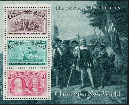 United States of America 1992 Voyages of Columbus SSb