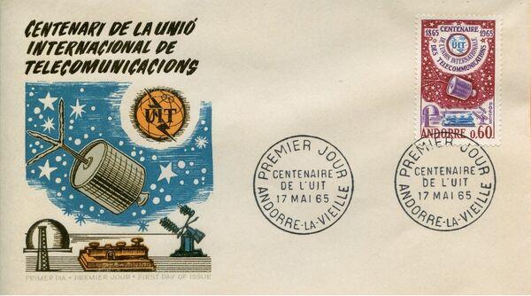 Andorra-French 1965 ITU Centenary FDCb