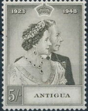 Antigua 1949 Silver Wedding of King George VI & Queen Elizabeth b