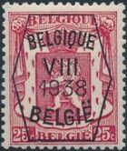 Belgium 1938 Coat of Arms - Precancel (8th Group) c
