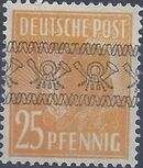 British and American Zone 1948 Overprinted with Posthorn Ribbon j