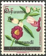 Burundi 1962 Flower Issue of Ruanda-Urundi Overprinted f