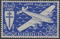 French Somali Coast 1941 Airmail e