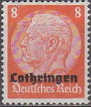 German Occupation-Lothringen 1940 Stamps of Germany (1933-1936) Overprinted in Black e