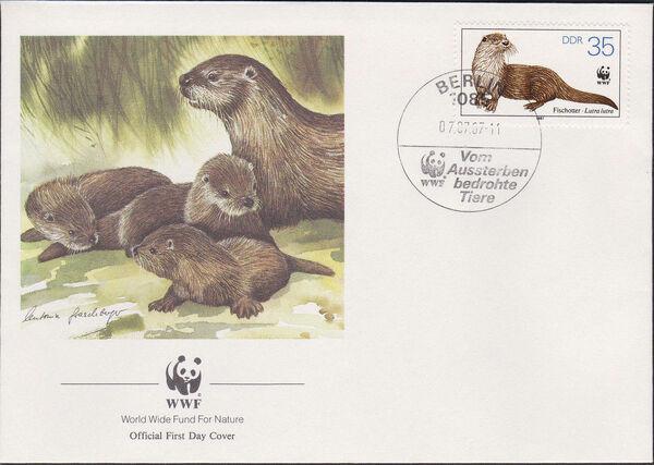 Germany DDR 1987 WWF - European Otter m