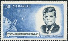 Monaco 1964 Pres. John F. Kennedy and Mercury Capsule a