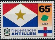 Netherlands Antilles 1995 Flags and Coats of Arms of Island Territories d