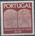 Portugal 1967 1st Centenary of the Abolition of the Death Penalty b.jpg
