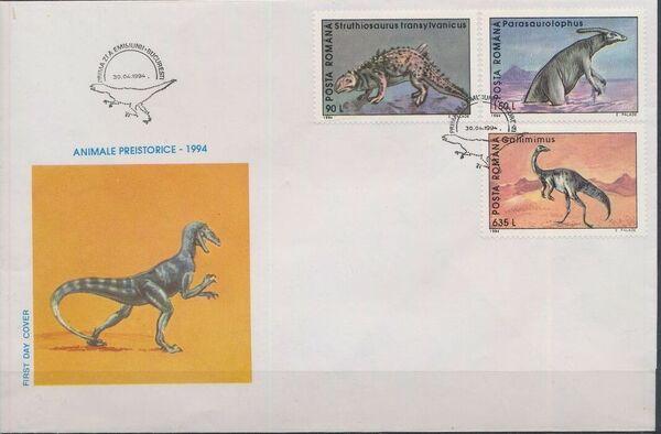 Romania 1994 Dinosaurs FDCa