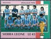 Sierra Leone 1990 Football World Cup in Italy x