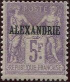 "Alexandria 1899 Type Sage Overprinted ""ALEXANDRIE"" r"